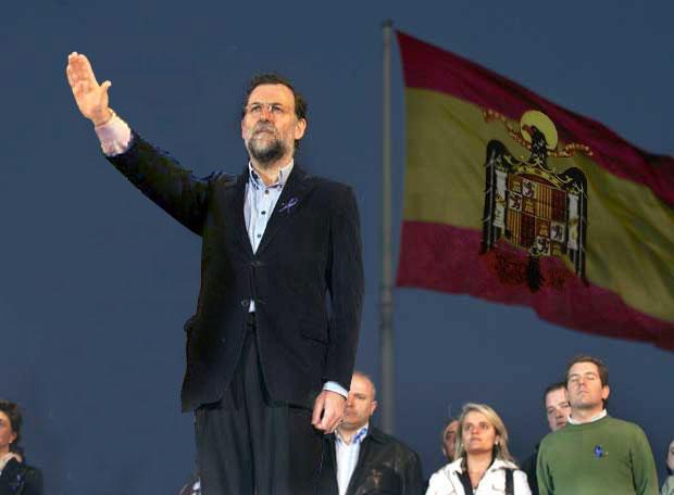 Resultat d'imatges de Rajoy saludo fascista