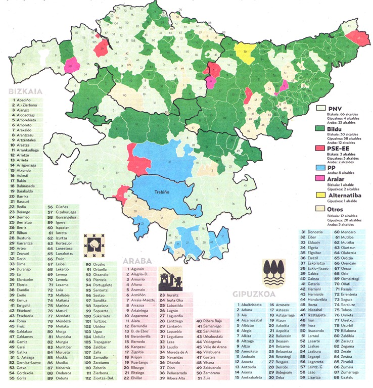 Mapa Euskal Herria Pueblos.El Mapa Verde De Hego Mendebaldeko Euzkadi Arabatik