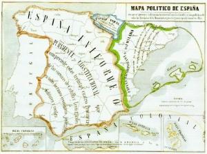 Estado español en el año 1854