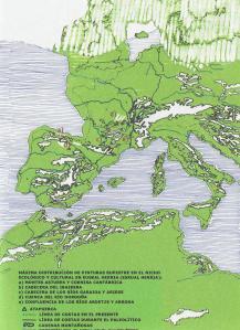 MAPA DEL GLACIAL EUROPEO