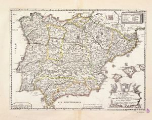 Reinos, Señoríos y Principados de las Españas en 1684